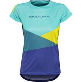 Endura SingleTrack Core Print Jersey shortarm Women kingfisher